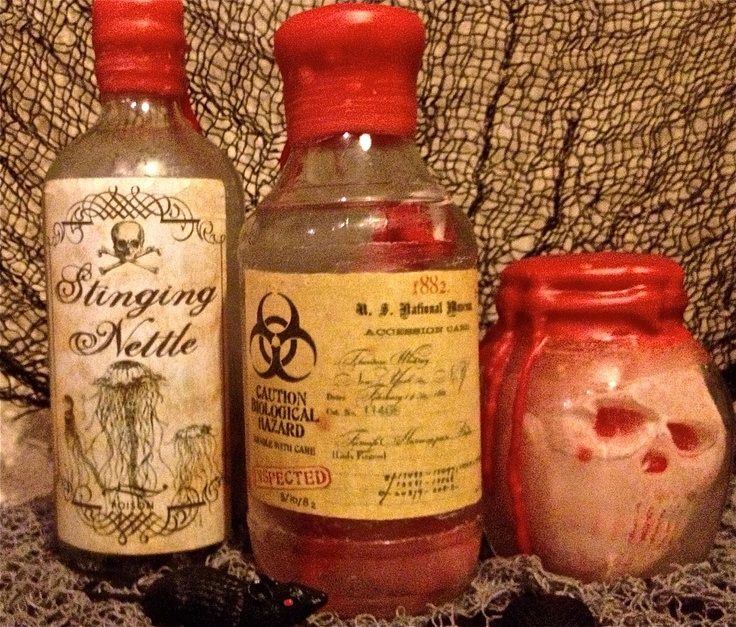 Spells Potion/Poison Bottles - Severed Fingers, Stinging Nettle & Tiny ...