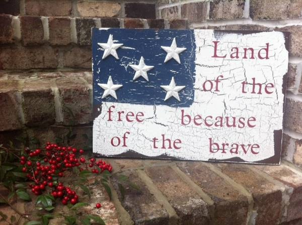 Land Of The Free Because Of The Brave Sign American