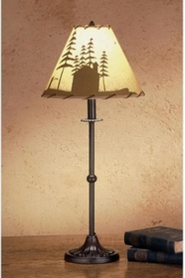 $119.99   28 Inch H Cabin In The Woods Painted Table Lamp Table Lamps. If You  Like This, Drop Me A Message. We We Can Also Negotiate!