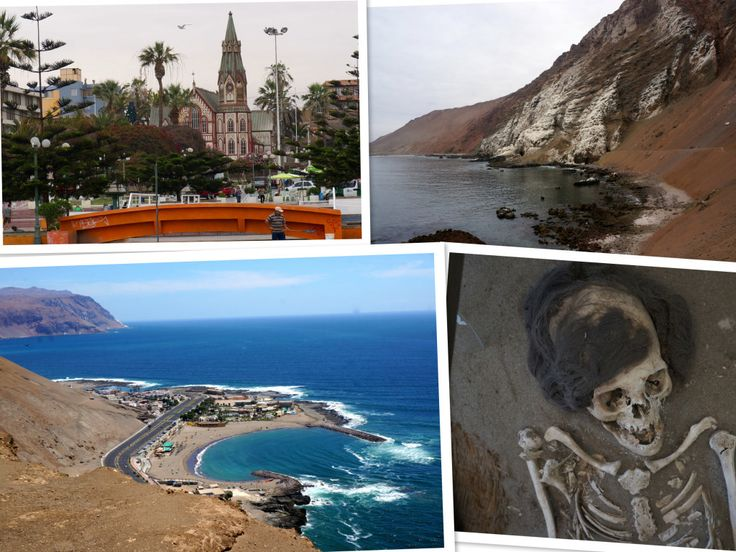 Sites in #Arica, #Chile: Eiffel's iron Cathedral of San Marcos, rugged coastline, seashore, and mummies.  Arica is a port of call for Celebrity Cruises