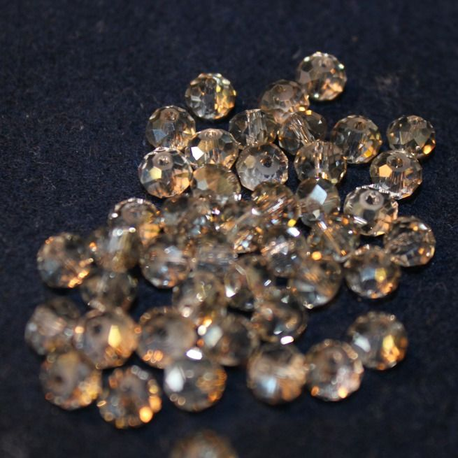 Our faceted crystals ready to be made into Barefoot Slinks.
