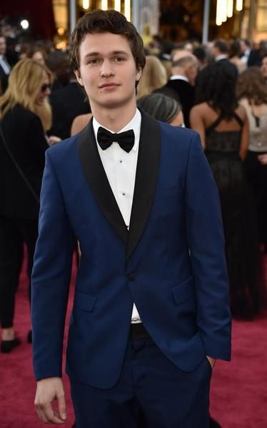 Ansel Elgort arrives on the red carpet for the 87th Oscars in Hollywood, California.