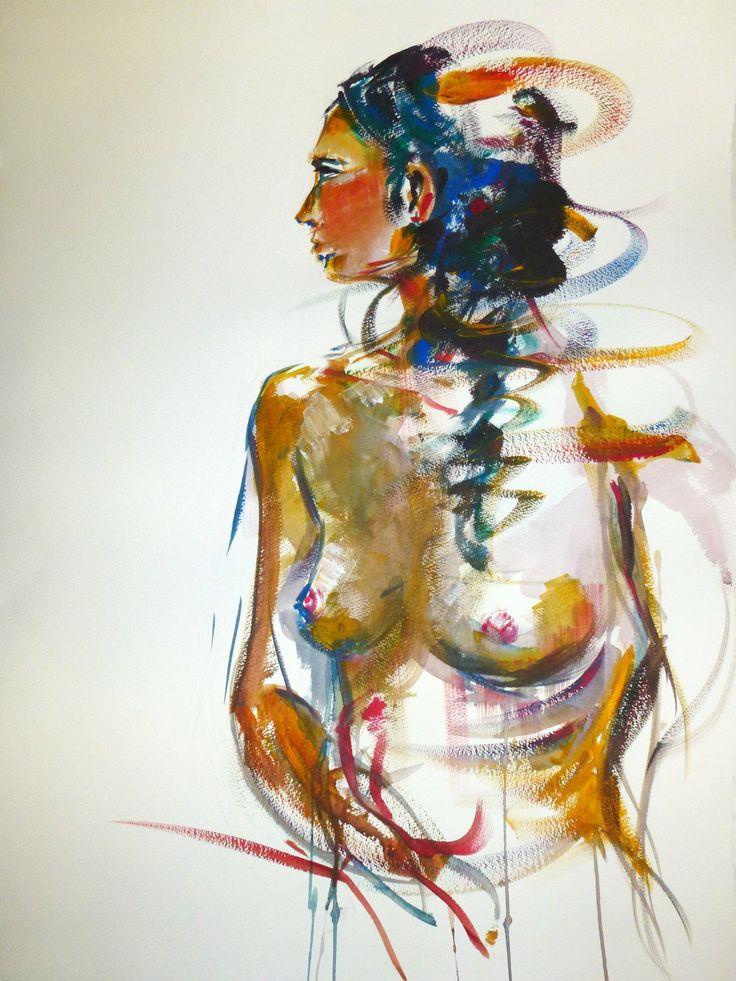 """Cristina Carturan  """"Sara"""" - Acrilico 55x75 cm"""