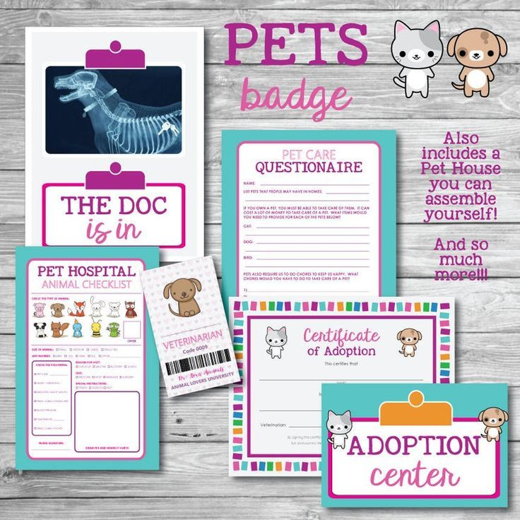 Girl Scout Pets Badge Printable Kit Animals Brownies | Etsy – Girl Scout Troop -… – LoL Dolls