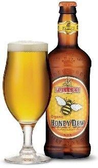 Cerveja Fuller's Organic Honey Dew, estilo Specialty Beer, produzida por Fuller's, Inglaterra. 5% ABV de álcool.