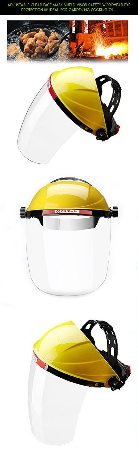 Adjustable Clear Face Mask Shield Visor Safety Workwear Eye Protection – Ideal For Gardening Cooking Oil Splashing #drone #racing #kit #camera #plans #gardening #shopping #parts #fpv #technology #gadgets #tech #products #mask