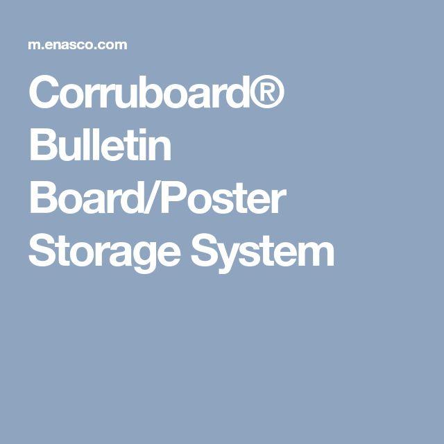 Corruboard® Bulletin Board/Poster Storage System