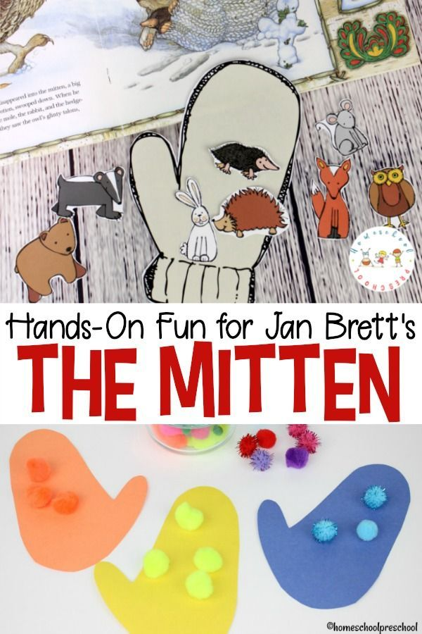 photo about The Mitten Story Printable named The Mitten Tale Printable and Palms-Upon Pleasurable Winter season Craft