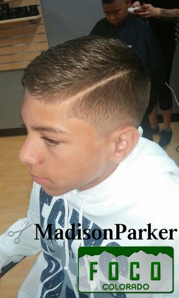 Short and Textured up top + Fade + Hard Part #mens #hair #fade #hardpart Men's Hairstyle Boy's Hairstyle