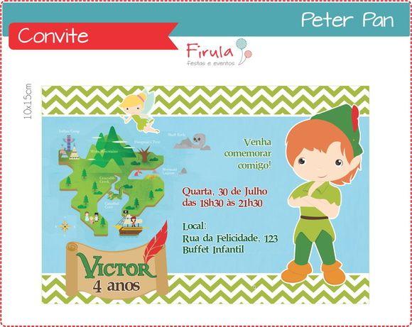 Convite Peter Pan http://www.elo7.com.br/convite-digital-peter-pan/dp/428C33
