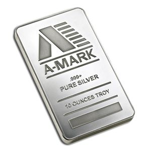 Buy 10 oz Silver Bullion Bars Amark | Ten Ounces Silver Bars for Sale | Gold And Silver Online
