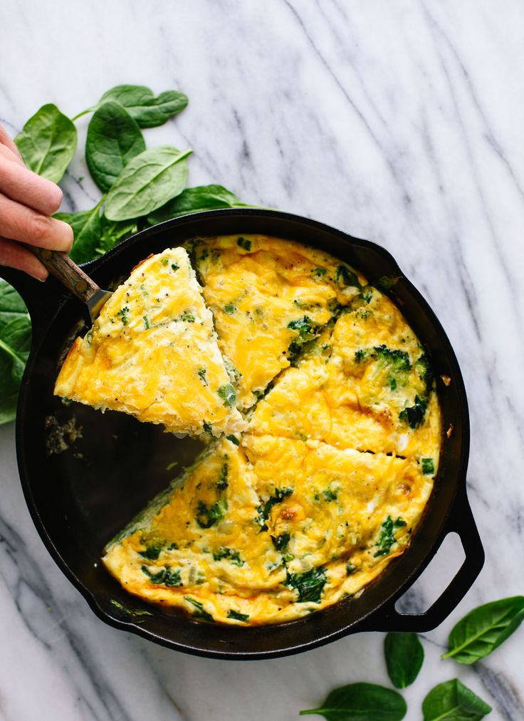 ... delicious spinach, broccoli and cheddar frittata is great for brunch