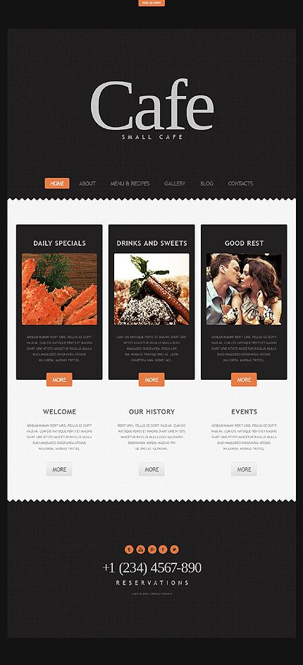 Best cafe and restaurant website templates images on