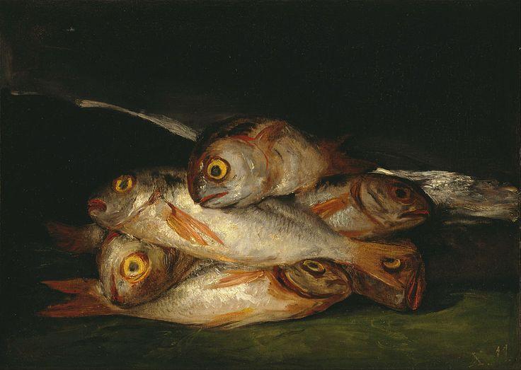 Francisco Goya Still Life with Golden Bream c. 1808 - 1812, US Public Domain