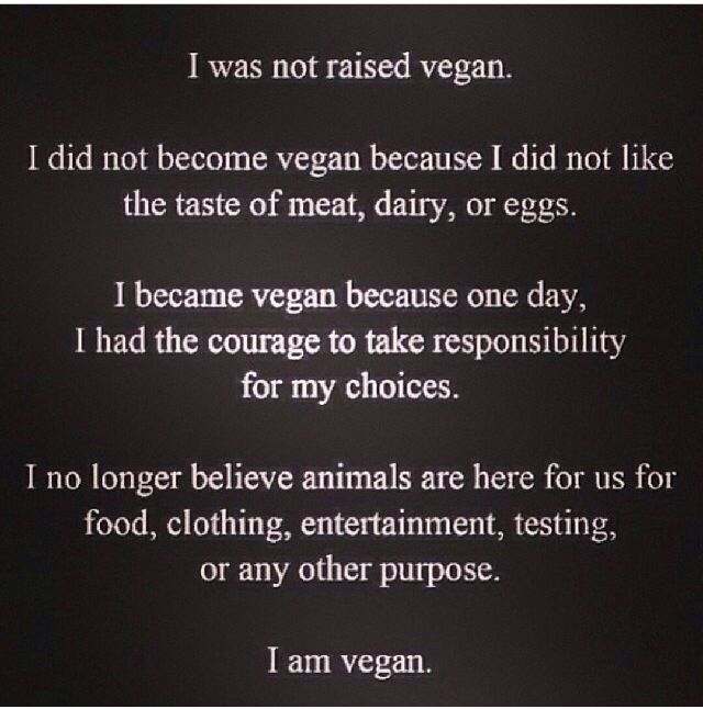 I'm not vegan yet, but I am vegetarian (have been for almost four years) and I plan to one day become a full vegan. This quote is perfect.