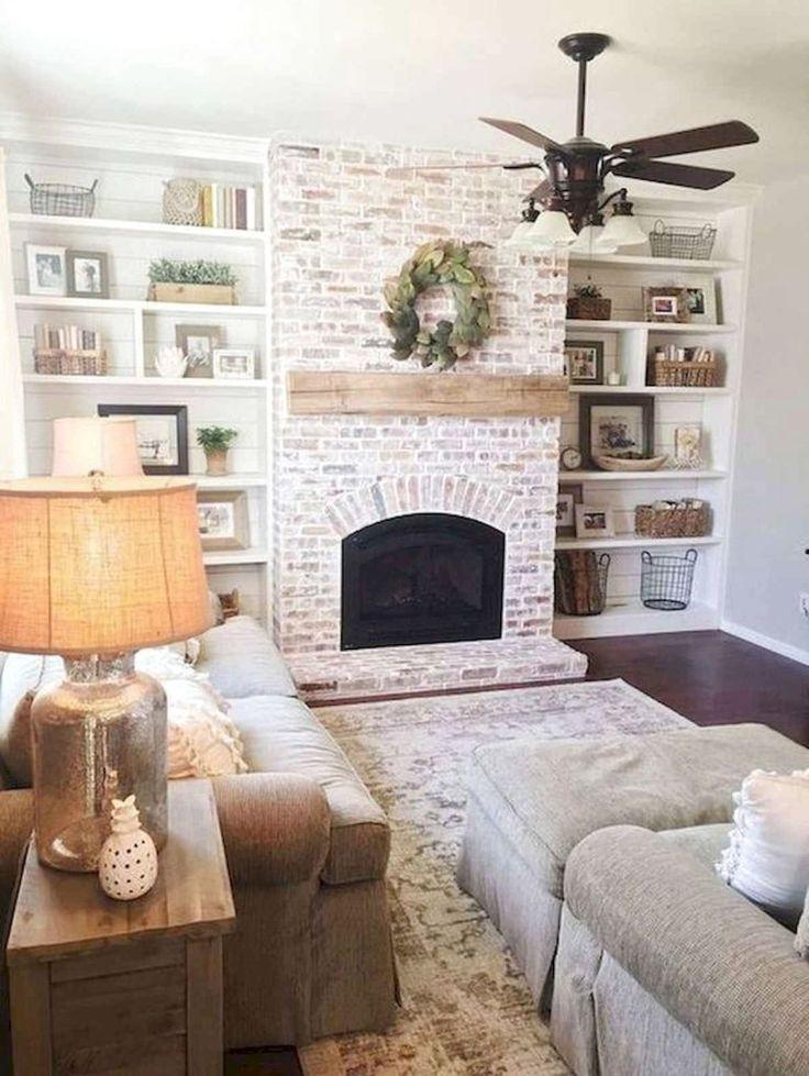 Best Modern Farmhouse Fireplace Mantel Decor Ideas