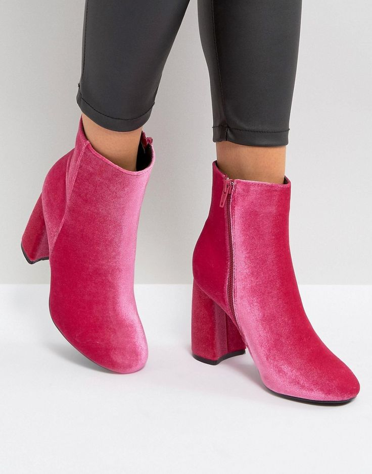 Truffle Collection Curved Heel Boot - Pink