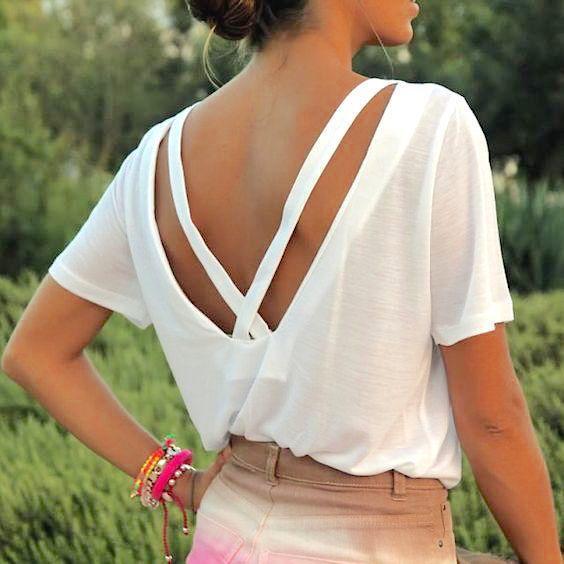 夏はたくさん着るからシンプルTシャツのリメイク術が知りたい