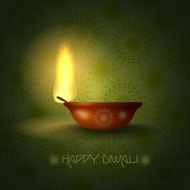 The 128 best diwali greeting card and wallpaper images on pinterest vector happy diwali glowing lamp with typography logo on green pattern background illustration greeting card templatetemplates freecard m4hsunfo