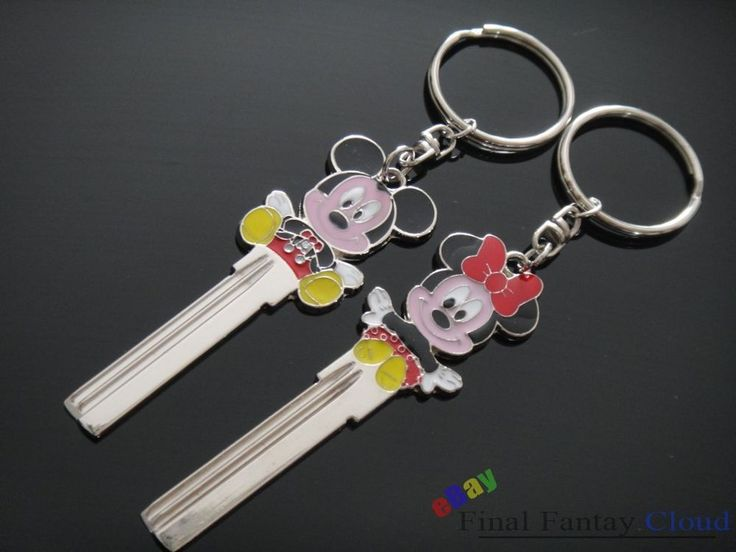 Shipping A Car >> 2X Mickey and Minnie uncut spare key blank keychain keyring Free Shipping To US | Key, Car keys ...