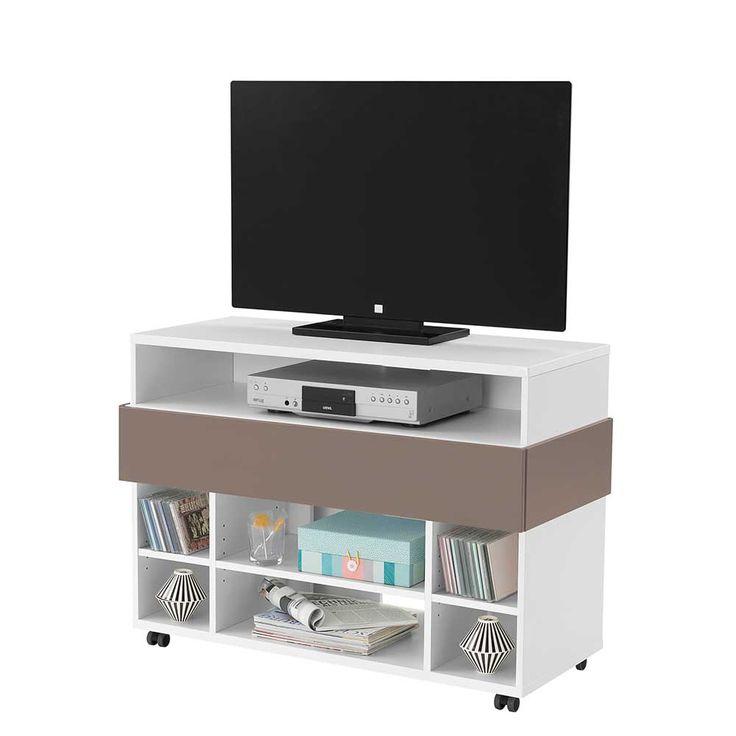 TV Kommode in Taupe Weiß Rollen Jetzt bestellen unter: https://moebel.ladendirekt.de/wohnzimmer/tv-hifi-moebel/tv-lowboards/?uid=d8542914-96e9-50e1-935e-b64be659bc40&utm_source=pinterest&utm_medium=pin&utm_campaign=boards #fernsehboard #fernsehmöbel #rack #wohnzimmerkommode #tische #tvhifimoebel #fernsehtisch #küchenkommode #möbel #phonomöbel #fernseher #tvtische #tisch #tvlowboards #wohnzimmer #kommode #board Bild Quelle: pharao24.de