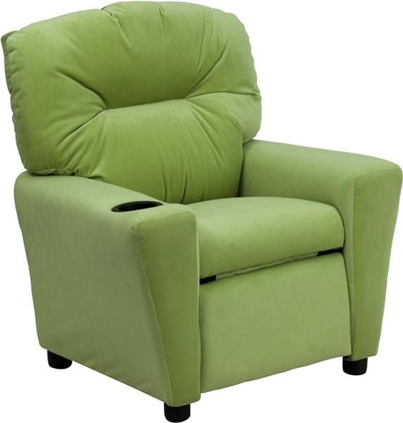 Avocado Microfiber Kids Recliner w/Cup Holder  sc 1 st  Pinterest & 10 best Kids Recliners images on Pinterest | Recliners Cup ... islam-shia.org