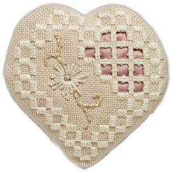 Beautiful free beginners Hardanger pattern. Find it here: http://www.needlepointers.com/displaypage.aspx?ArticleID=32136&URL=http%3a%2f%2fwww.needleart.org%2fCharts%2fHearts%2fhardanger%2f