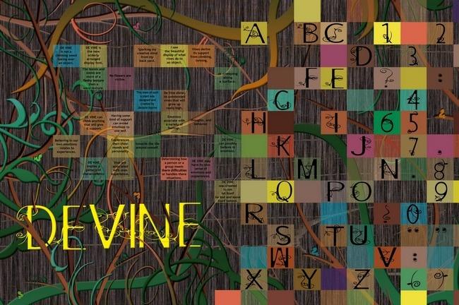 DE VINE Font poster
