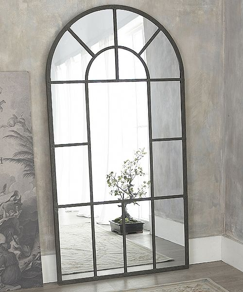 Our new metal framed window mirror is a real statement piece - it stands nearly 7 feet tall Use it to add an extra dimension to a dull corner and to