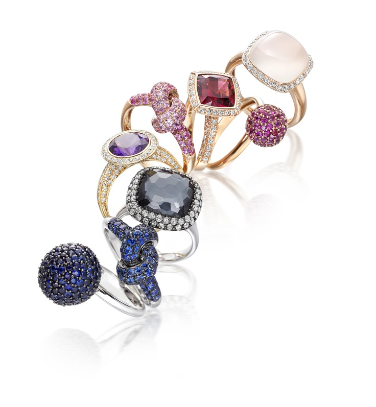 New to the Jewellery Hall, come and try on Astley Clarke's charming stacking rings