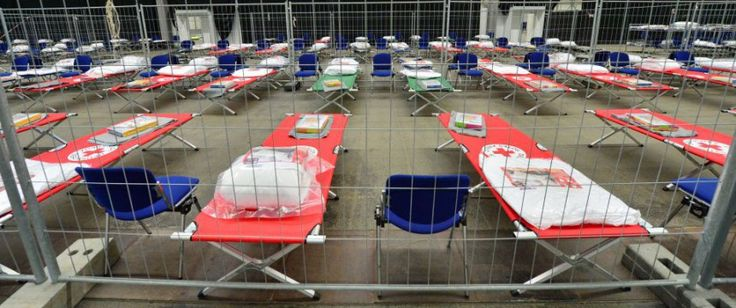 Initial reception center in Erfurt: Bundeswehr sees disastrous situation Photo: dpa