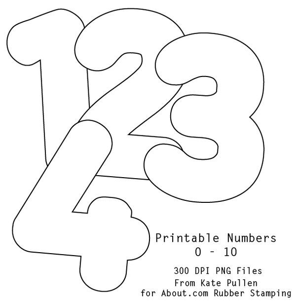 10 best Outline Bubble Numbers images on Pinterest ...