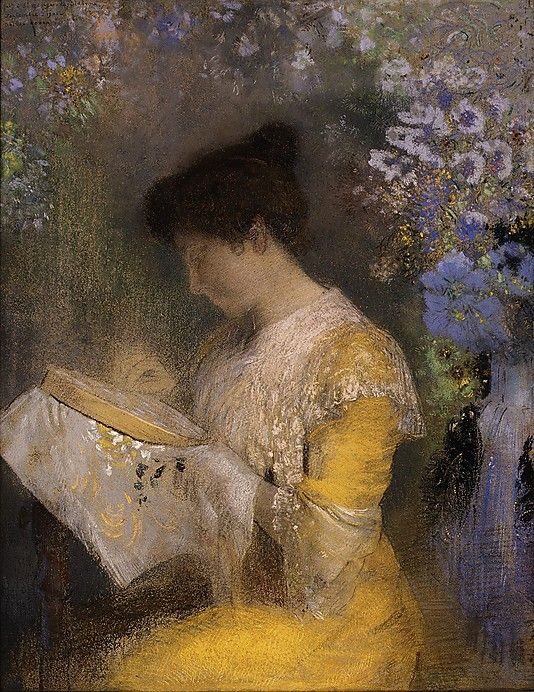 Odilon Redon (French, 1840–1916). Madame Arthur Fontaine (Marie Escudier, born 1865), 1901. The Metropolitan Museum of Art, New York. The Mr. and Mrs. Henry Ittleson Jr. Purchase Fund, 1960 (60.54) | Marie Escudier Fontaine was the wife of a wealthy Parisian industrialist and art patron whose circle of friends included a number of writers, musicians, and artists, among them André Gide, Claude Debussy, and Vuillard, who twice painted her portrait. #paris