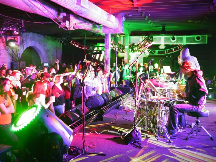 Party in Austin, Texas, during the South by Southwest (SXSW) music, film, and tech festival.