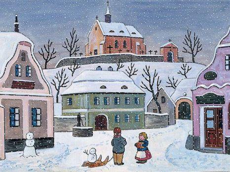 Josef Lada zima v obraze...Josef Lada Winter in the image ... (80 pieces)