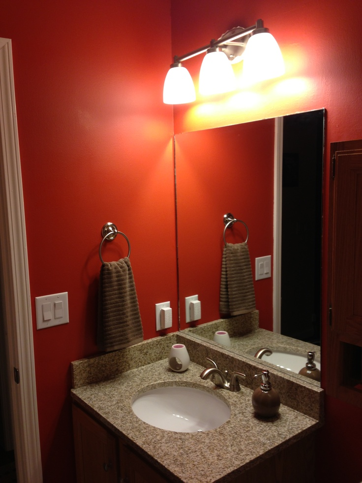 Paint Valspar Quot Crimson Glow Quot Granite Countertop