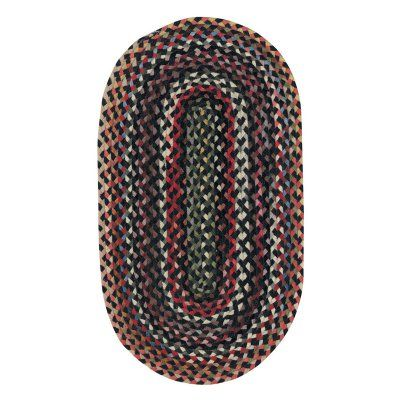 St. Johnsbury 0040 Vertical Stripe Braided Rectangle Area Rug - Darkest Black - 0440RS09060906300