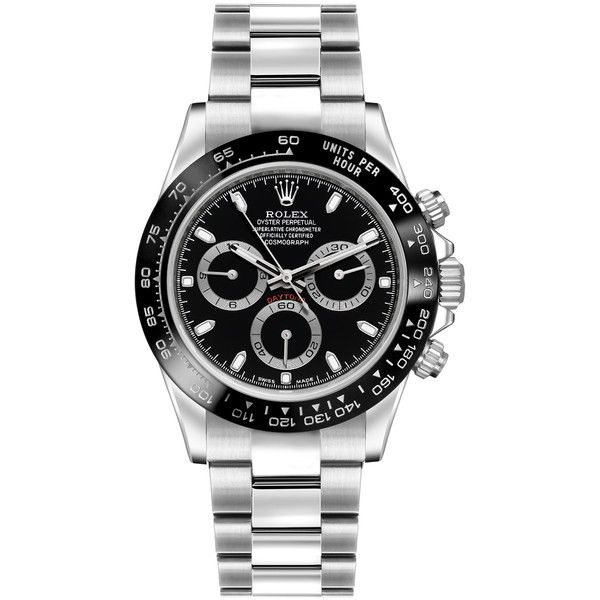 Rolex Cosmograph Daytona Stainless Steel 116500LN Black Watch (1.095.050 RUB) ❤ liked on Polyvore featuring men's fashion, men's jewelry, men's watches, watches, stainless steel, rolex mens watches and mens stainless steel watches
