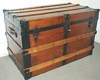 How to Clean Antique Trunks- for the steamer trunk  - have one that went thru a flood- will try this.