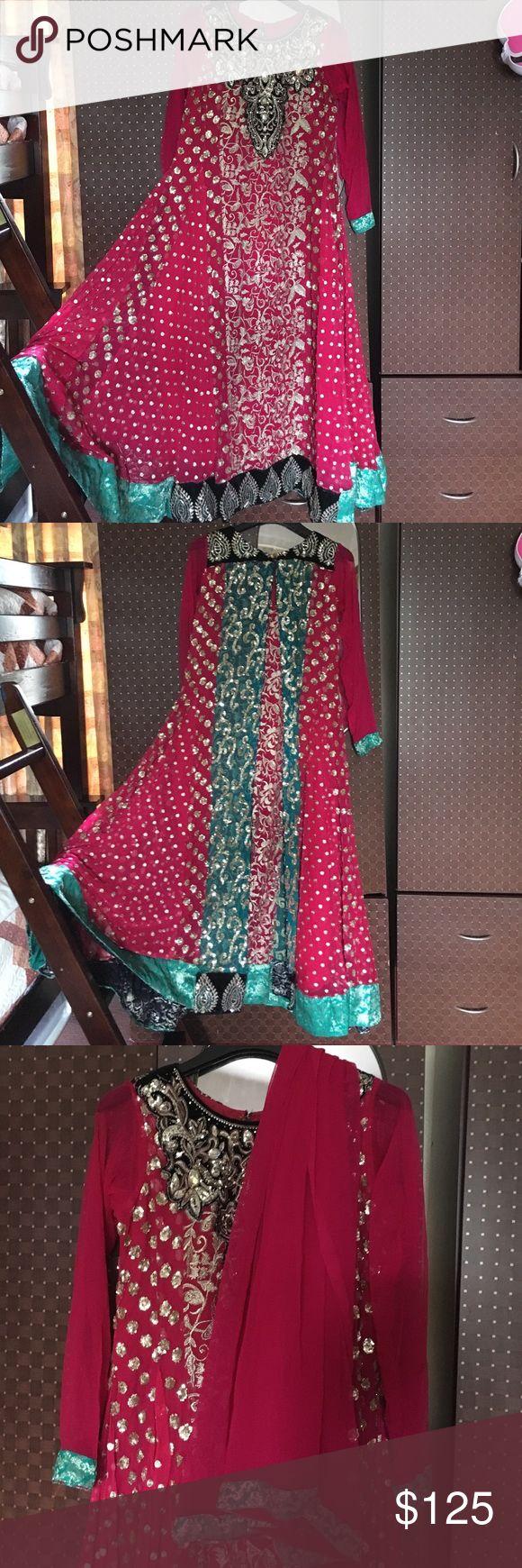 Anarkali shalwar kameez. Anarkali shalwar kameez. Size medium. Comes with dupatta. Dresses Maxi