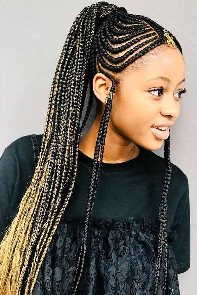 48 Attention Grabbing Fulani Braids Ideas To Copy In 2020 Cool Braid Hairstyles Braided Hairstyles Long Hair Styles