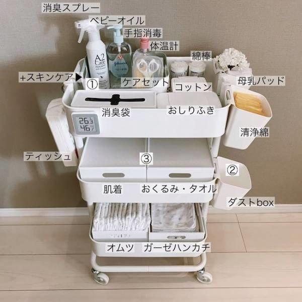 Ikea みんな使ってる ベビーワゴン お世話セットの収納法