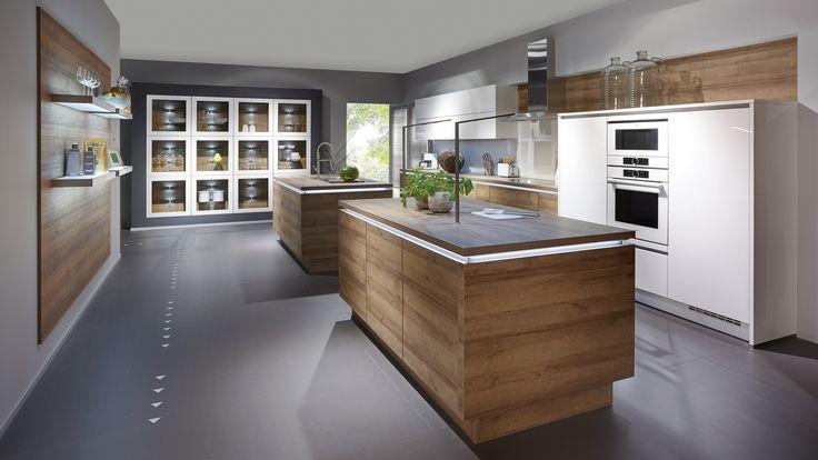 M s de 1000 ideas sobre cocinas de madera de roble en for Amueblamiento de cocinas