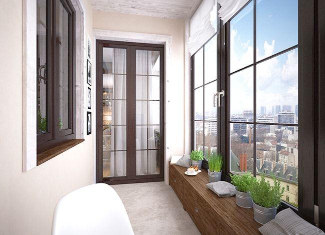 Отделка балконов внутри при помощи различных материалов, преимущества и недостатки разных методов. Фото интересного дизайна, полезные советы по обустройству балкона.
