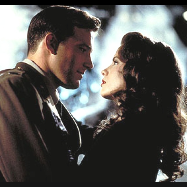 Ben Affleck & Kate Beckinsale in Pearl Harbor, which is one of THE saddest movies I've ever seen.