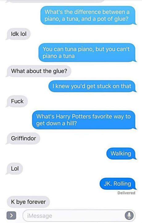 Haha Harry Potter jokes. Funny texts. Humour. Harry Potter texts.
