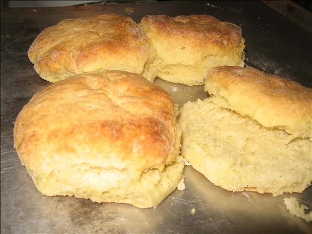Cathead Biscuits 								Don't worry, there aren't any actual cat's heads involved. The origins of the name are lost to time, but the conventional wisdom seems to be that they're called that because they're about the size of a cat's head. An old Appalachian favorite. Less fuss than rolled and cut biscuits. White Lily flour is preferred.