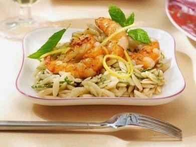 Koken en Kitch: Orzo met scampi en munt