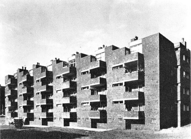Block of Flats, Cologne, Germany, 1959  by O.M. Ungers