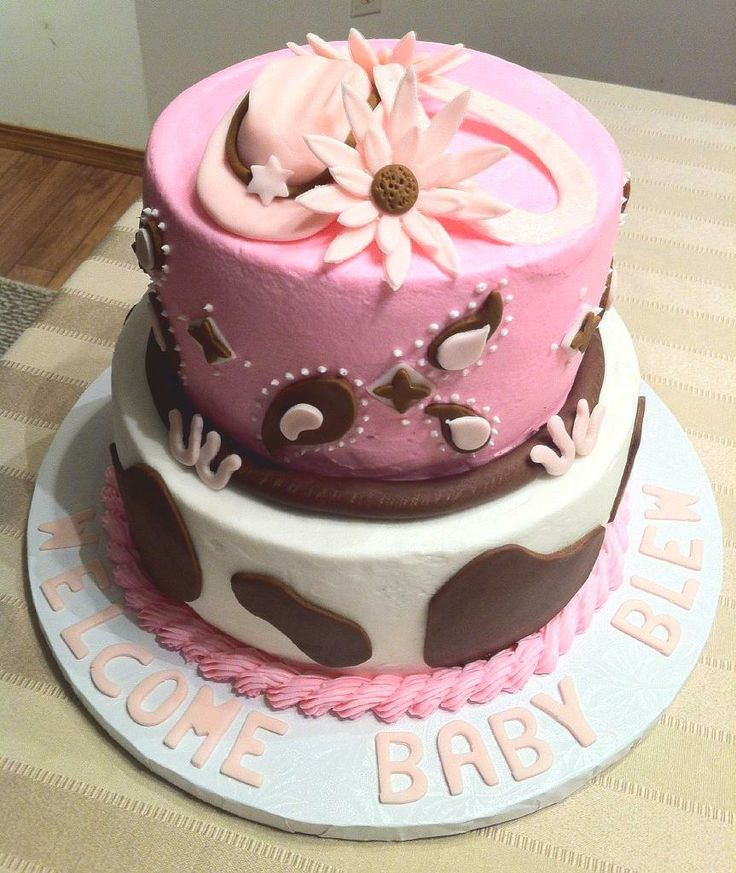 Cowgirl Baby Shower Cakes: - Cowgirl Theme Baby Shower Cake @Christy Falter